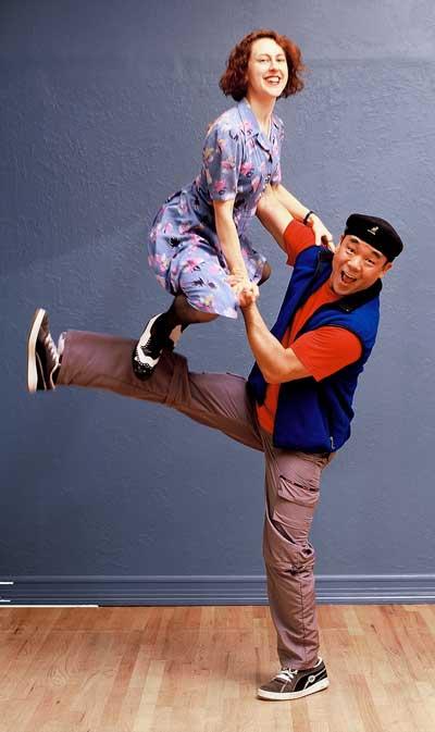 Brandee swing dancing, circa 2001