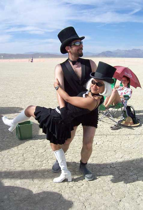 Emylene & Daniel's wedding dance at Burning Man