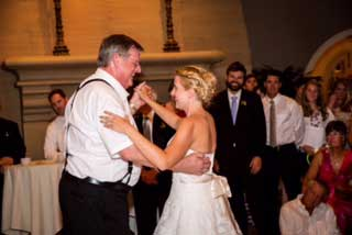 Tori & her dad enjoy their dance