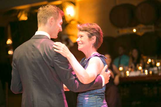 Garrett & his mom enjoy their dance