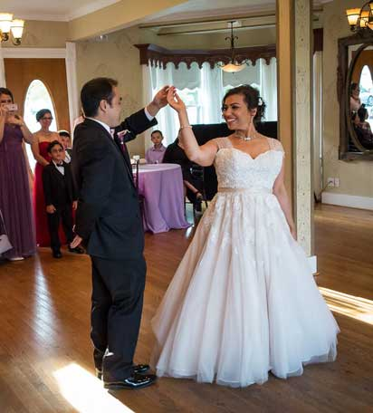 James & Gina's first dance