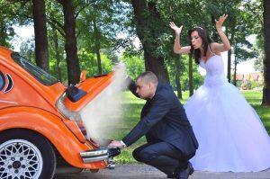 Bride impatient with groom