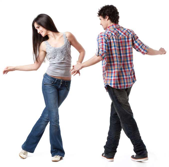 Young Couple Swing Dancing