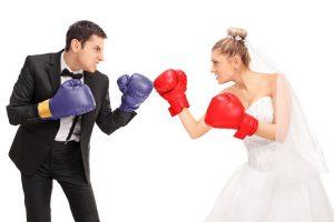 Bride and Groom Fight on Dance Floor