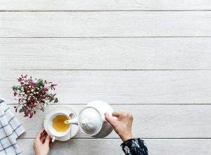 Dancer takes a tea break